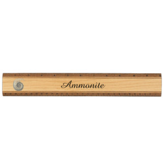 Ammonite Maple Ruler