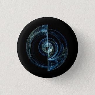 Ammonite Shell pattern design. 3 Cm Round Badge