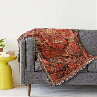Amogapasha Mandala Thangka Throw Blanket