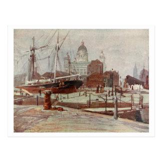 Among the Docks, Liverpool, Merseyside, England Post Cards