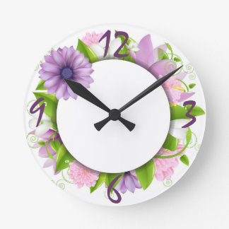 Among the Flowers Clock