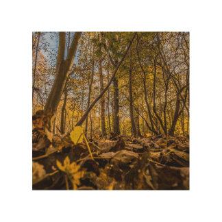 """Among the leaves"" design wall art Wood Prints"