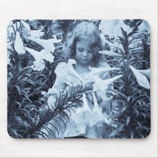 Among the Lillies - Vintage Stereoview Mouse Pad