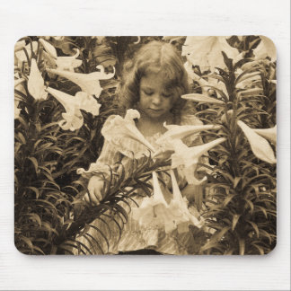 Among the Lillies - Vintage Stereoview Mousepad