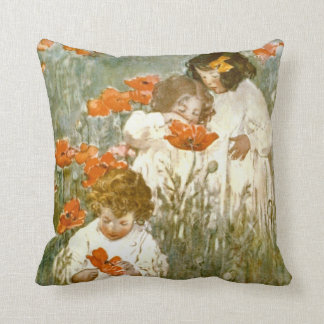 Among the Poppies 1904 Cushion