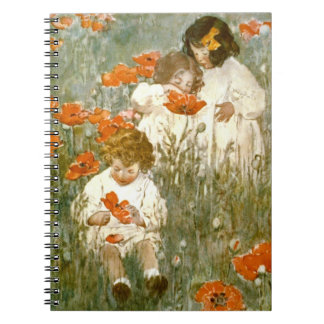 Among the Poppies 1904 Spiral Note Book