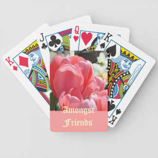 Amongst Friends playing cards Pink Tulip Flowers