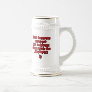 Amongst the ladybugs coffee mug