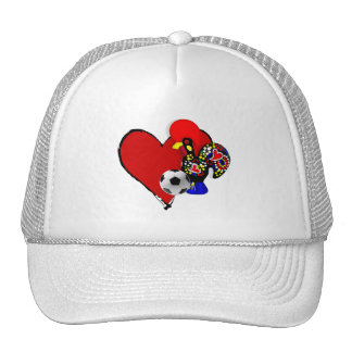 Amor, Barcelos, Futebol - Deus é Maravilhoso Trucker Hats
