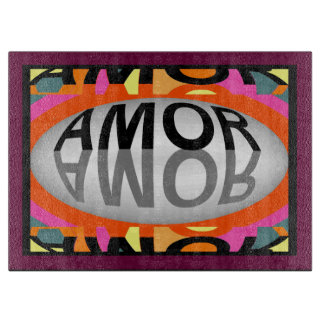 AMOR ( LOVE ) Cutting Board-Home-Multicolored Cutting Board
