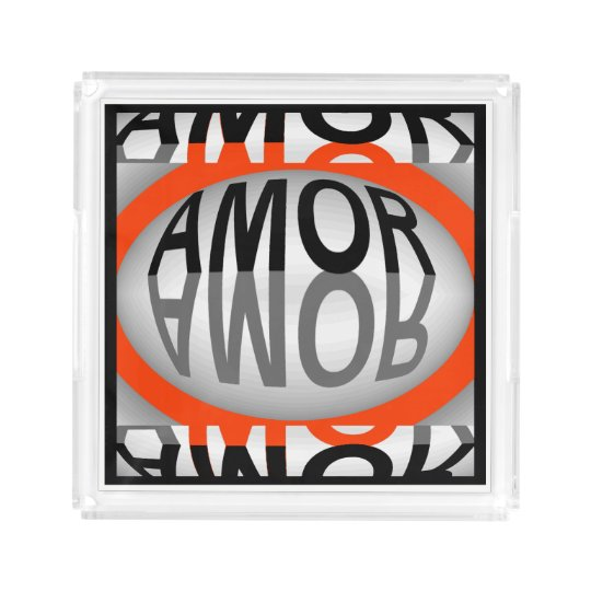 AMOR Perfume Tray for Women- Red/Black/White