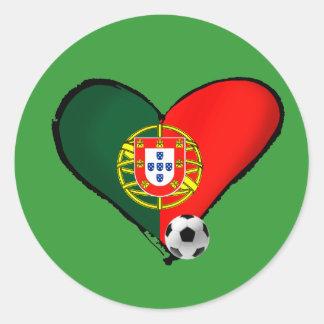 Amor, Portugal e Futebol - O que mais vôce quer ? Round Sticker