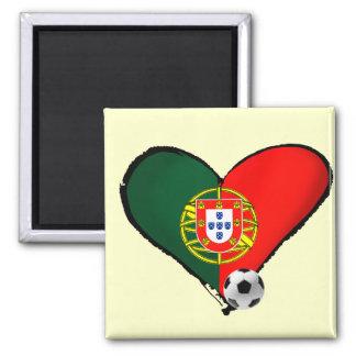 Amor, Portugal e Futebol - O que mais vôce quer ? Square Magnet