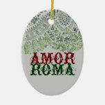 Amor Roma With Green Lace Christmas Tree Ornaments