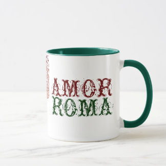 Amor Roma With Green Lace Mug