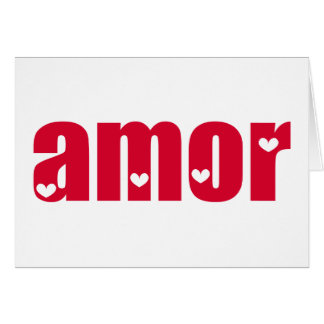 Amor! Spanish Love design! Card