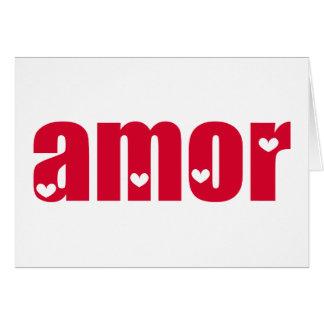 Amor! Spanish Love design! Greeting Card