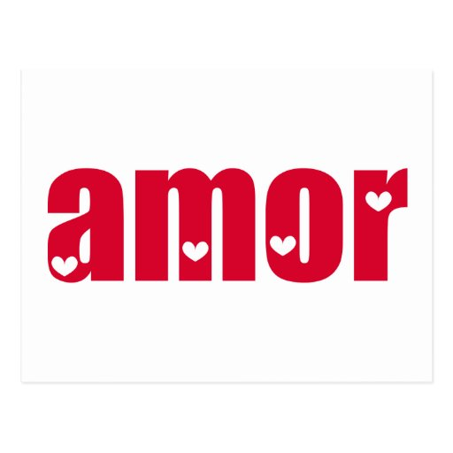 Amor! Spanish Love design! Post Cards