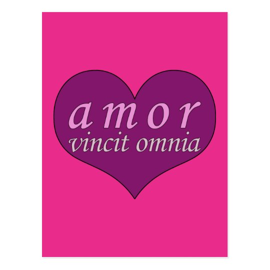 Amor Vincit Omnia Love Conquers All Valentines Day