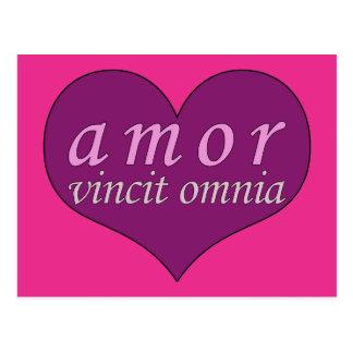 Amor Vincit Omnia Love Conquers All Valentines Day Postcards