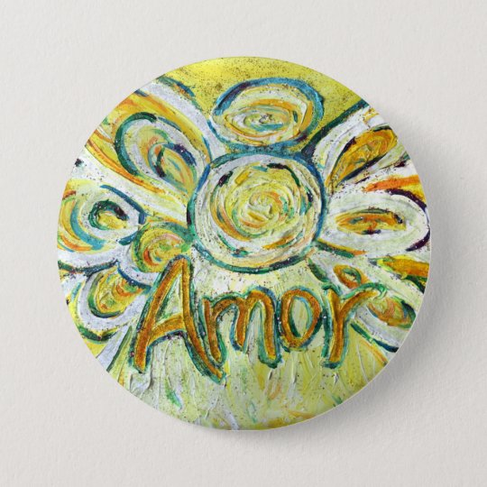 Amor Word Angel Art Pin Pendant Buttons