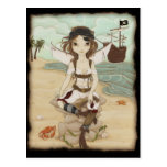 Amora - Fairy pirate postcard
