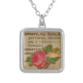 Amore - Italian Love Pendant Necklace - Valentine