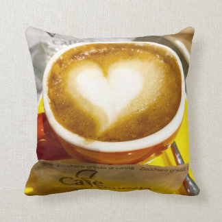 Amoreccino I heart Italian Coffee Cushion