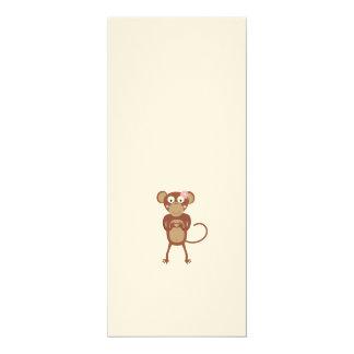 amorous female monkey 10 cm x 24 cm invitation card