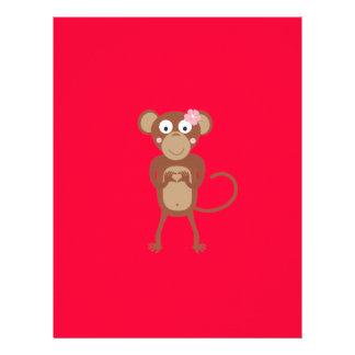 amorous female monkey 21.5 cm x 28 cm flyer