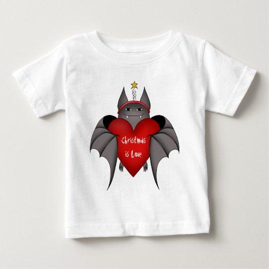 Amorous gothic Christmas bat Baby T-Shirt
