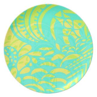 Amorph - lemon & lime party plate