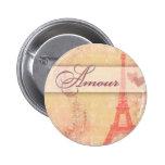Amour in Paris Button