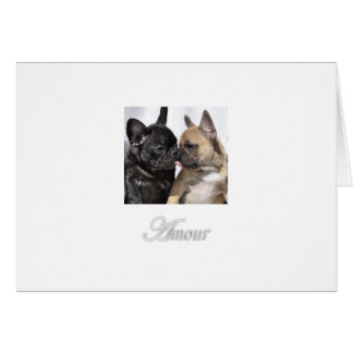 "Amour ""Love"" French Bulldog Greeting Cards"