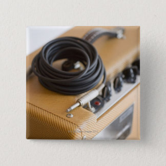 Amp and Cable 15 Cm Square Badge