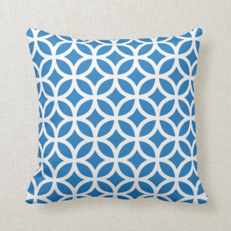 Amparo Blue Geometric Pattern Pillow Throw Cushions