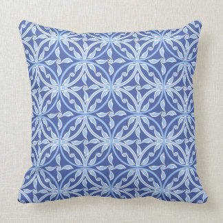 Amparo Blue Vintage Central Asia Rounded Floral Cushion