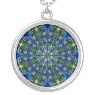 Amped Up Mandala Silver Plated Necklace