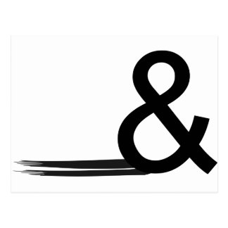 Ampersand1 Postcard
