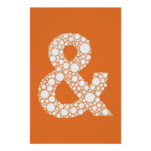 Ampersand (and symbol) Bubble Type Poster
