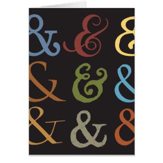 ampersand card