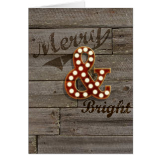 Ampersand Merry & Bright Card