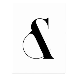 Ampersand Minimalist Modern Art Postcard