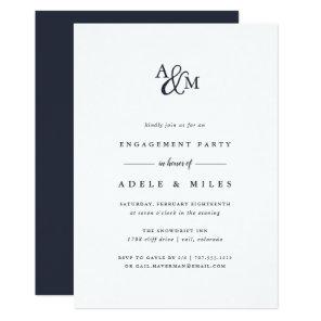 Ampersand Monogram Engagement Party Invitation