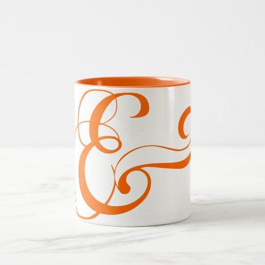 Ampersand Symbol Two-Tone Coffee Mug