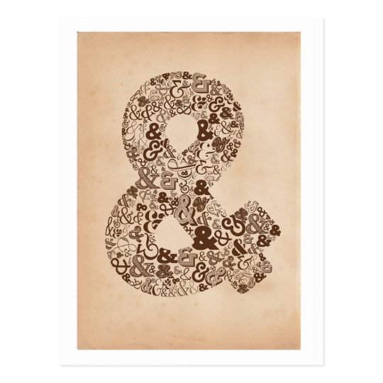 Ampersand Typography Postcard