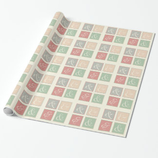 Ampersands - Coral, Peach, Green, Gray Wrapping Paper