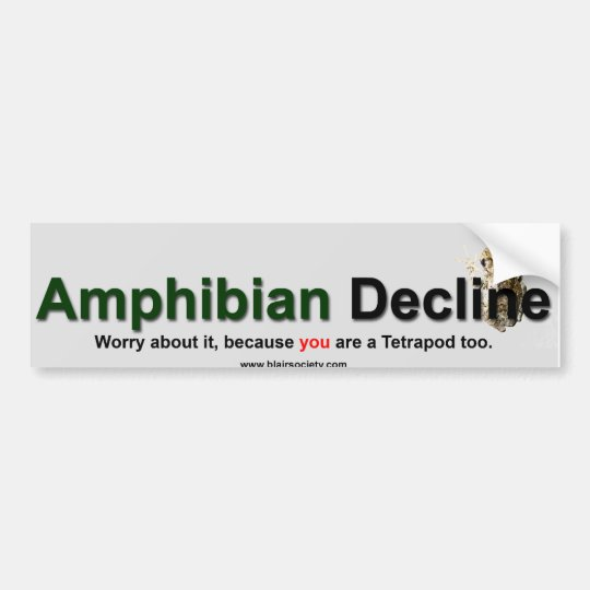 Amphibian Decline Bumper Sticker