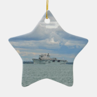 Amphibious Assault Ship Ocean Christmas Ornament
