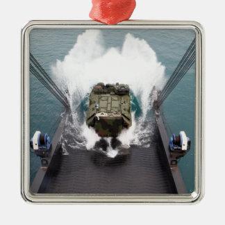 Amphibious assault vehicles disembark from USNS Christmas Ornament